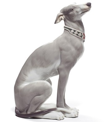 Attentive Greyhound Lladro Figurine