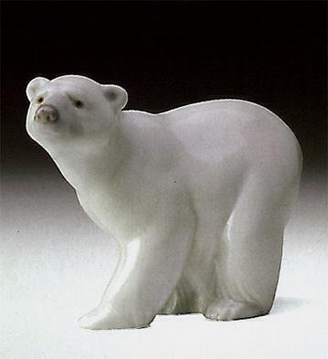 Attentive Polar Bear Lladro Figurine