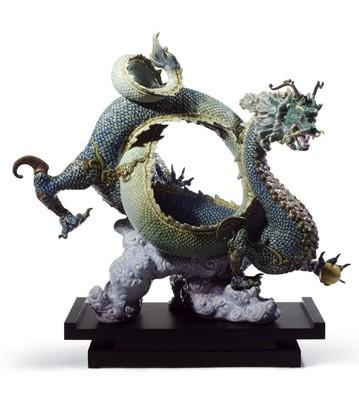 Auspicious Dragon (green) Lladro Figurine