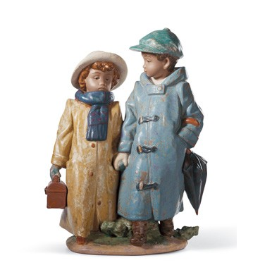 Away To School Lladro Figurine