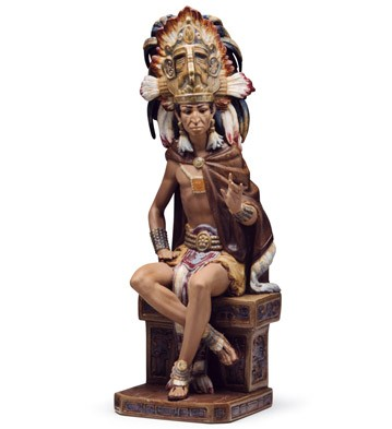 Aztec Indian Lladro Figurine