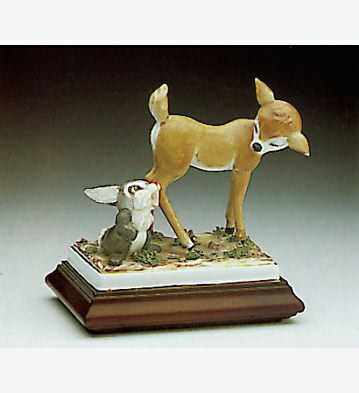 Baby Deer And Bunny Lladro Figurine