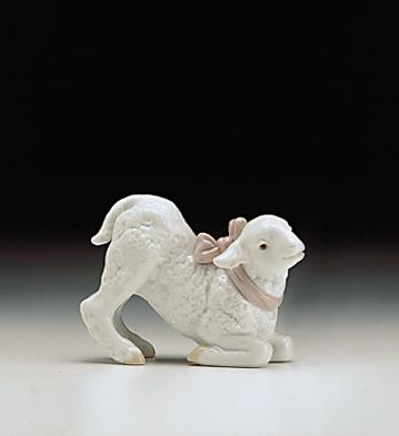 Baby Girl Lamb Lladro Figurine