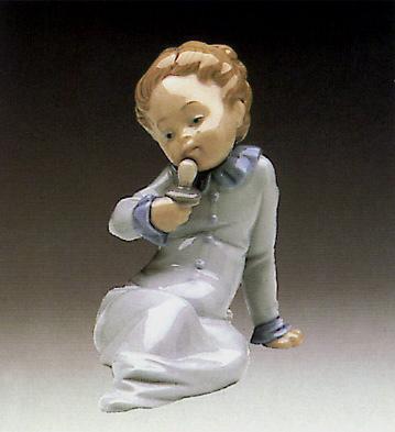 Baby W-dummy In The Hand Lladro Figurine