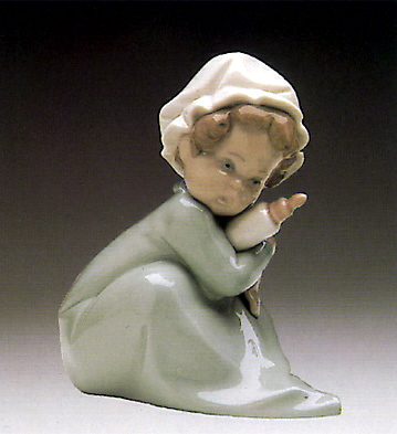 Baby With Feeding-bottle Lladro Figurine