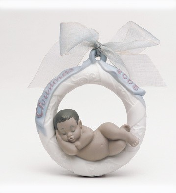 Baby's First Christmas B.l. 2005 Lladro Figurine