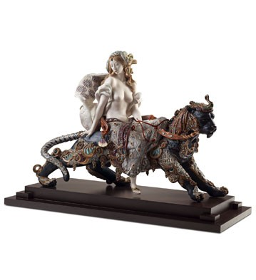 Bacchante On A Panther Lladro Figurine