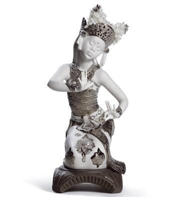 Bali Dancer Kneeling (re-deco) Lladro Figurine