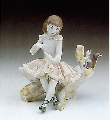 Ballerina With Squirrell Lladro Figurine