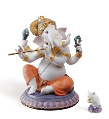 Bansuri Ganesha (limited Edition) Lladro Figurine