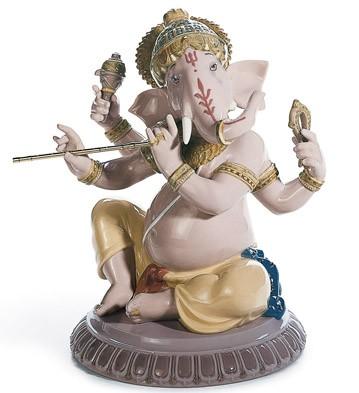Bansuri Ganesha Lladro Figurine