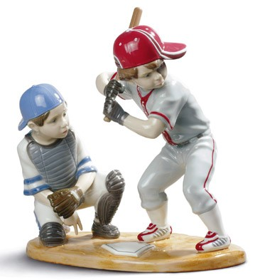 Baseball Players Lladro Figurine