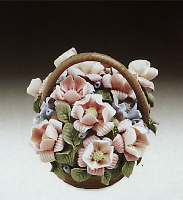 Basket Of Flowers N.4-b Lladro Figurine