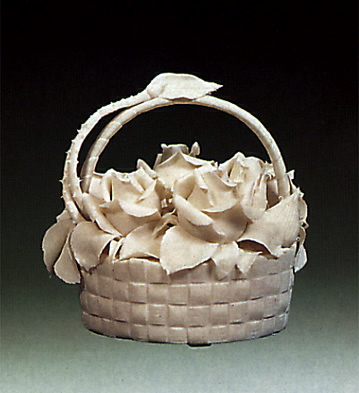 Basket Of Flowers Lladro Figurine