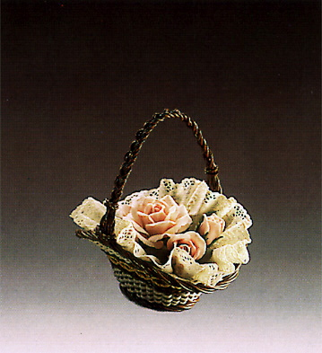 Basket Of Roses Lladro Figurine