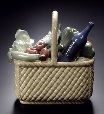 Basket Lladro Figurine
