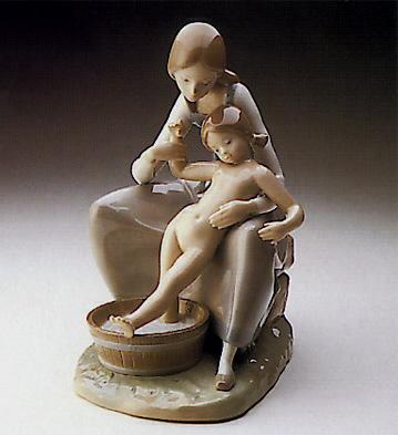 Bathing The Girl Lladro Figurine
