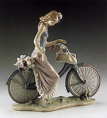 Biking In The Country Lladro Figurine