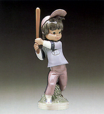 Billy Base-ball Player Lladro Figurine
