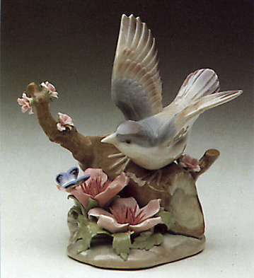 Bird And Butterfly Lladro Figurine