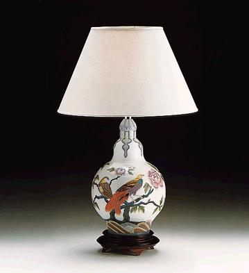Birds & Peonies Lamp (l.e Lladro Figurine