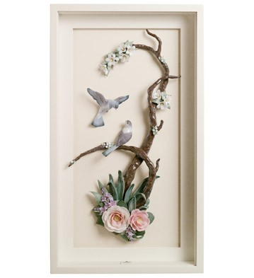 Birds On Branch - Wall Art Lladro Figurine
