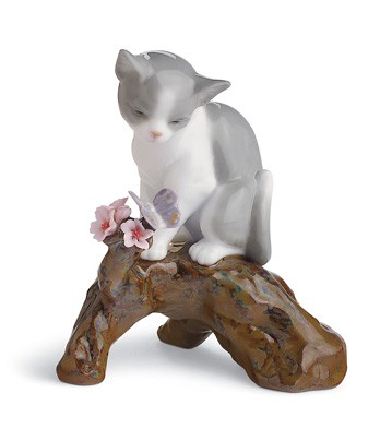 Blossoms For The Kitten Lladro Figurine