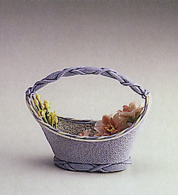 Blue Oval Basket Lladro Figurine