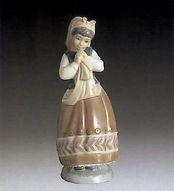Blushful Girl Lladro Figurine