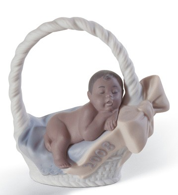 Born In 2008 Black Legacy (boy) Lladro Figurine