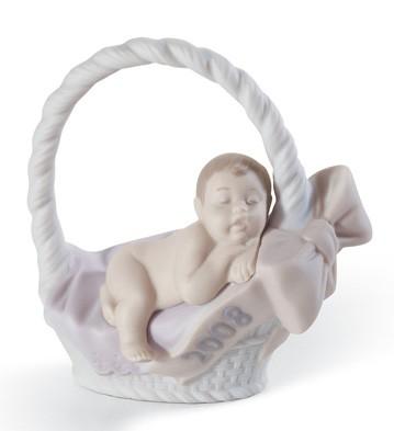 Born In 2008 (girl) Lladro Figurine