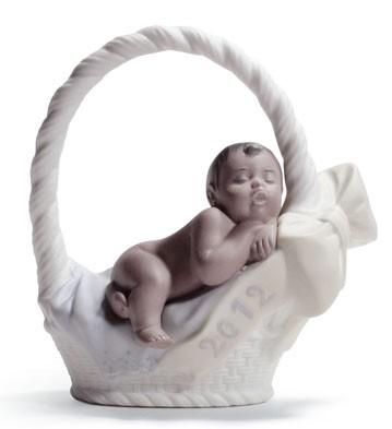 Born In 2012 (boy-dark Skin) Lladro Figurine