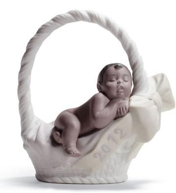 Born In 2012  (girl-dark Skin) Lladro Figurine