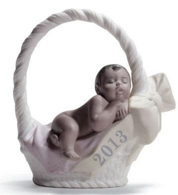 Born In 2013 (girl - Dark Skin) Lladro Figurine