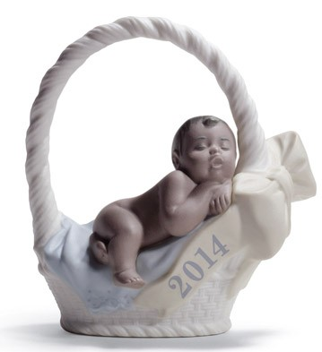 Born In 2014 (boy - Dark Skin) Lladro Figurine