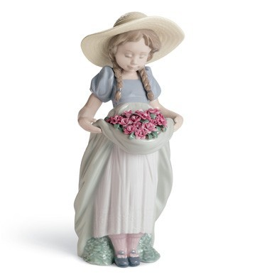 Bountiful Blossoms (carnations) Lladro Figurine