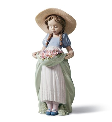 Bountiful Blossoms Lladro Figurine