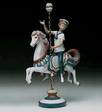 Boy On Carrousel Horse Lladro Figurine