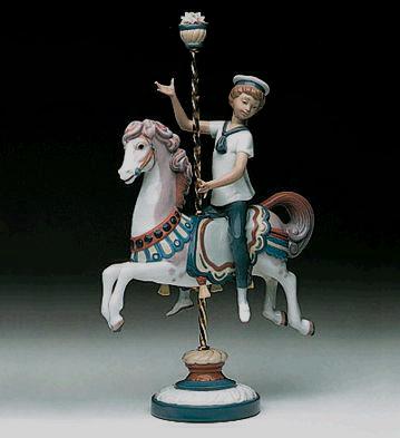 Boy On Carrousel Horse Lladro Figurine