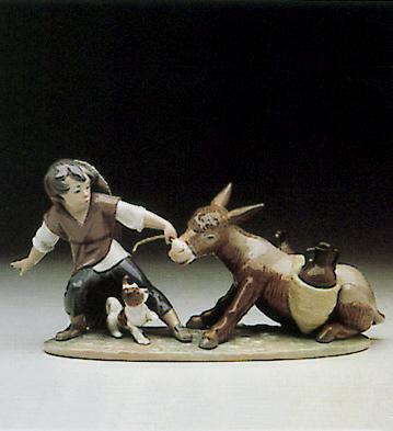Boy Pulling Donkey Lladro Figurine