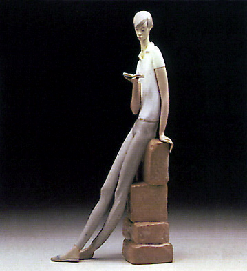 Boy Student Lladro Figurine