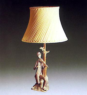 Boy W/ Violin (lamp) Lladro Figurine