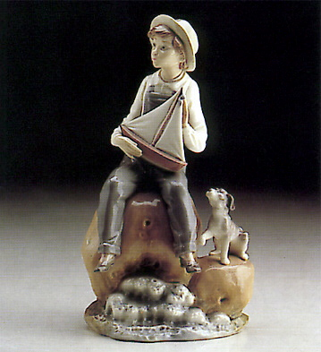 Boy With Boat Lladro Figurine