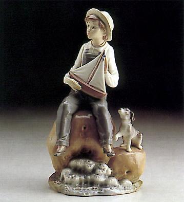 Boy With Boat Lladro Figurine