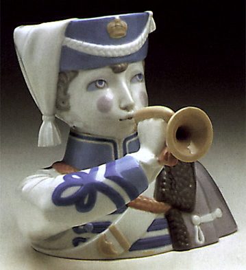 Boy With Cornet Lladro Figurine