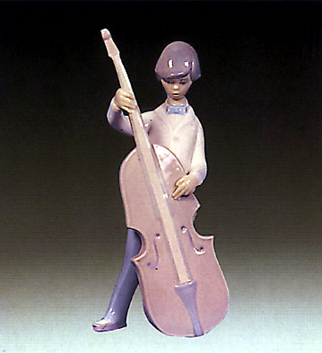 Boy With Double-bass Lladro Figurine