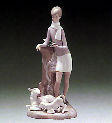 Boy With Lambs Lladro Figurine