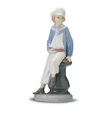Boy With Yacht Lladro Figurine
