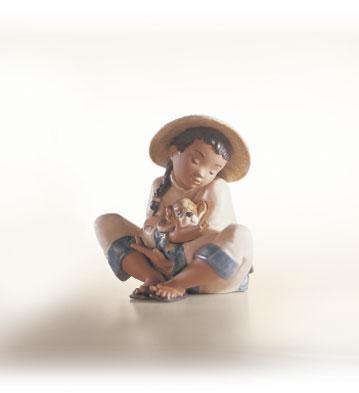 Boy's Best Friend Lladro Figurine