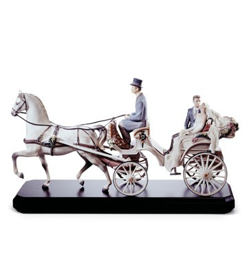 Bridal Carriage Lladro Figurine